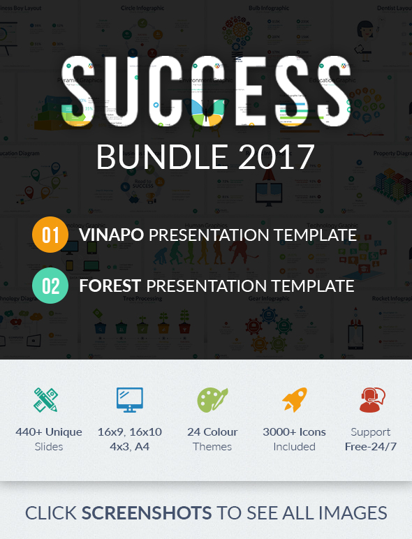 Success Google Slides Bundle 2017 - Google Slides Presentation Templates