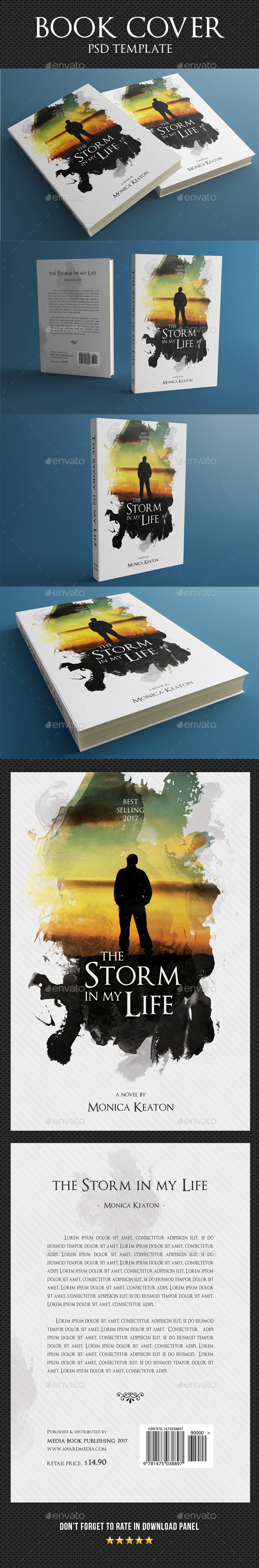 Book Cover Template 37 - Miscellaneous Print Templates