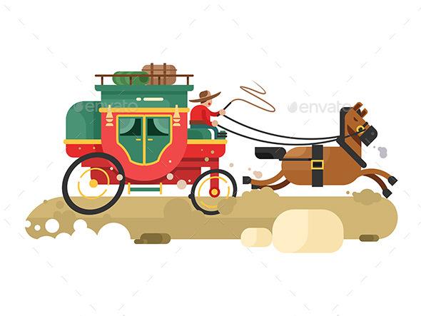 Stagecoach Design Flat - Miscellaneous Vectors