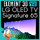 LG OLED TV Signature 65 for Element 3D