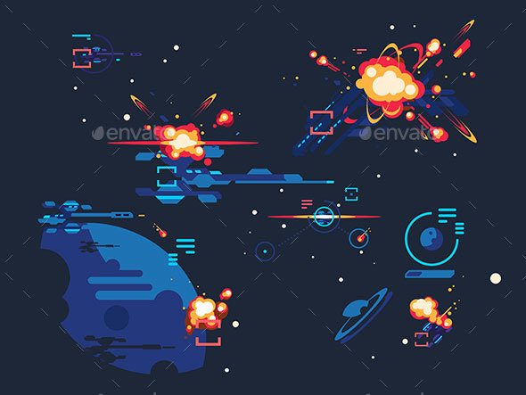 Battle Star Space - Backgrounds Decorative