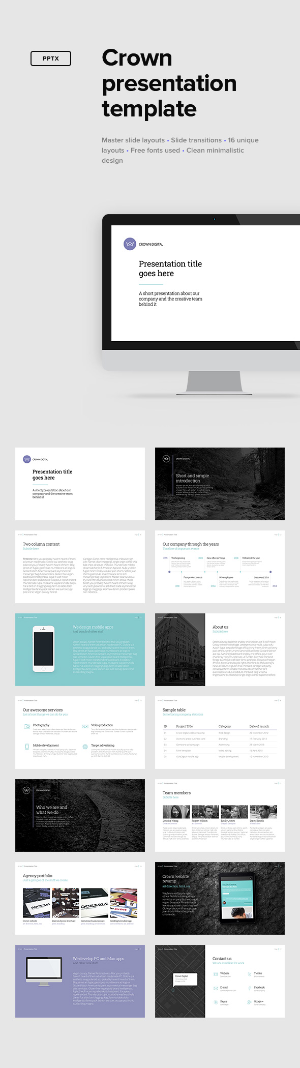 Crown Presentation Template - PowerPoint Templates Presentation Templates