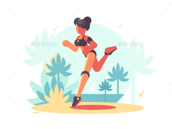 GraphicRiver Young Girl Running 20329828