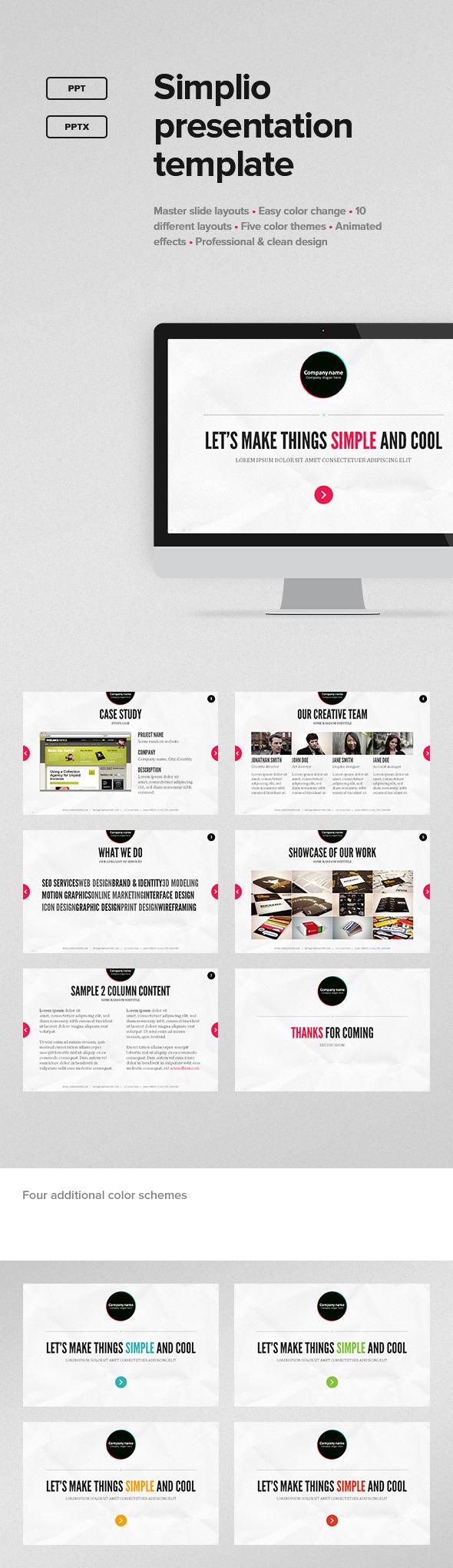 Simplio Presentation Template - PowerPoint Templates Presentation Templates