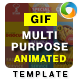 Animated Gif Photoshop Template - 2 Variations - GraphicRiver Item for Sale