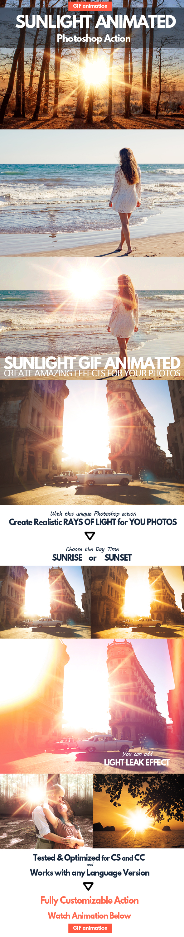 GraphicRiver Sunlight Animated GIF Photoshop Action 20329868