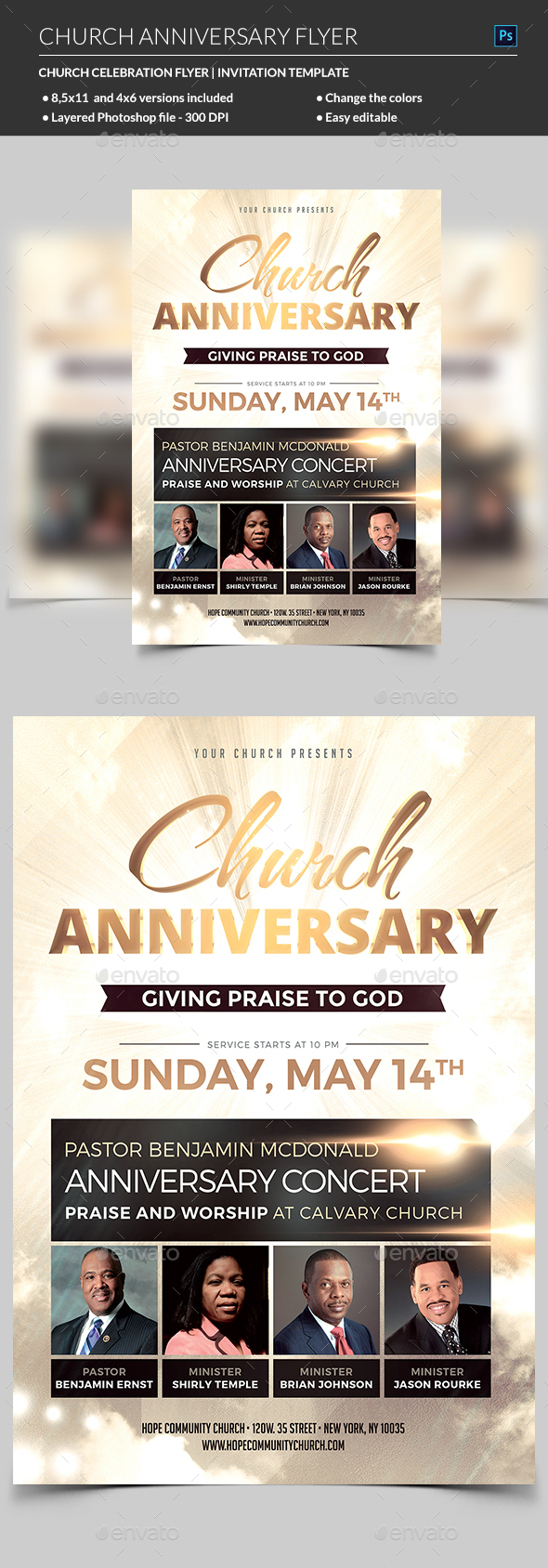 Church Anniversary Flyer by madridnyc – Anniversary Flyer