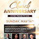 Church Anniversary Flyer Nulled