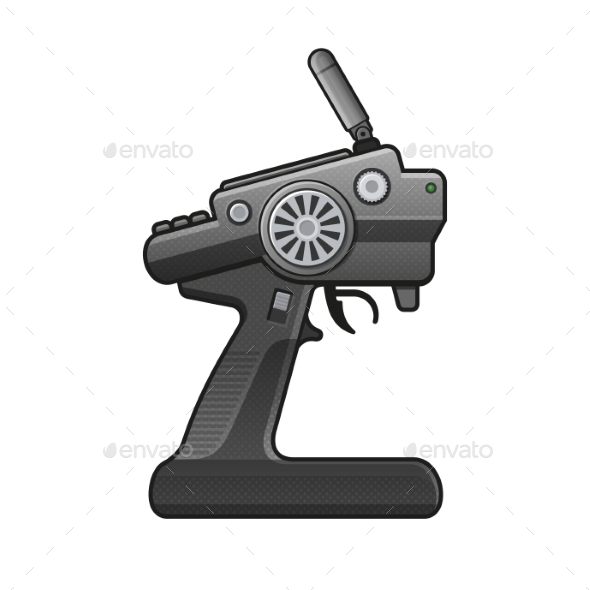 GraphicRiver RC Car Radio Control Icon on White Background 20330163