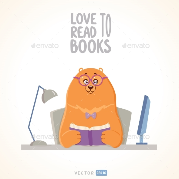 Bear Reads - Miscellaneous Vectors