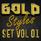 Gold Photoshop Styles Vol 01