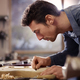Italian Artisan Working In Lutemaker Workshop - PhotoDune Item for Sale