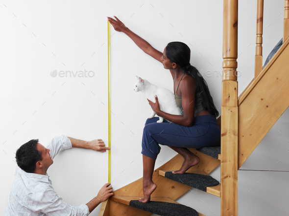 Man And Woman Doing Diy Work At Home - Stock Photo - Images