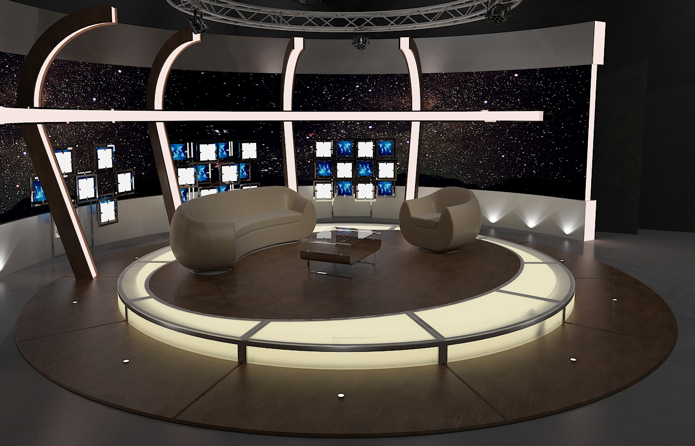 3d Virtual Tv Studio Chat Set 20 By Canan85 3docean