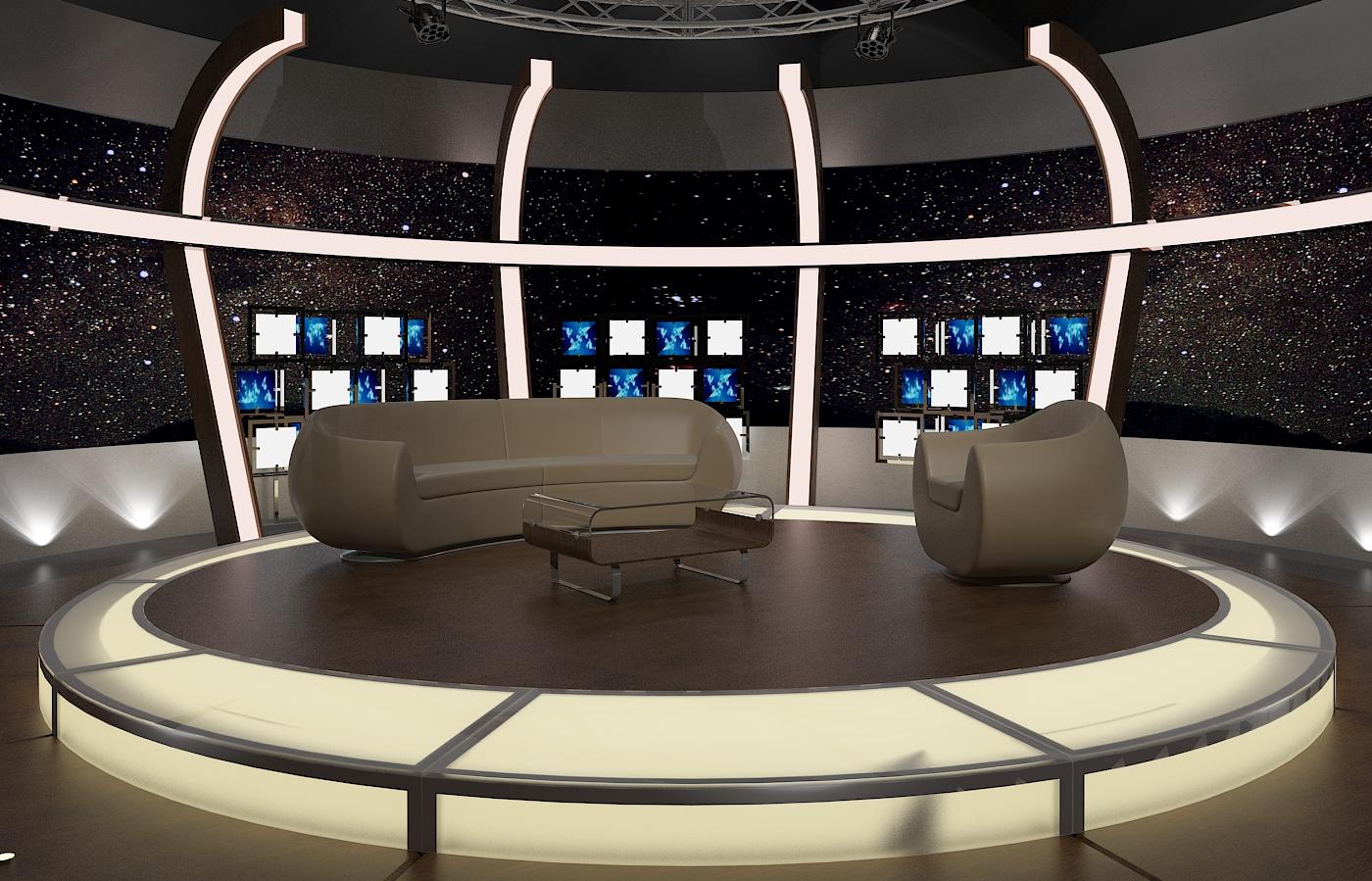 tv studio furniture.  Studio 3d Virtual TV Studio Chat Set 20 To Tv Furniture A