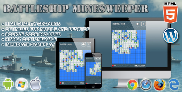 Battleship Minesweeper - HTML5 Game - CodeCanyon Item for Sale