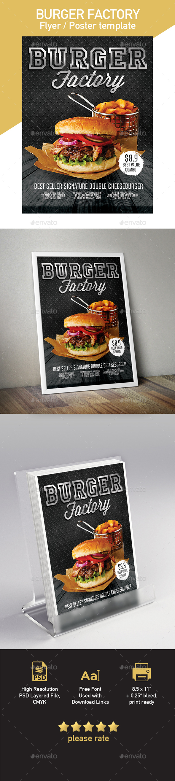 Burger Flyer & Poster Template - Restaurant Flyers