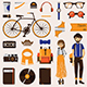 Hipster Character Creating Collection - GraphicRiver Item for Sale