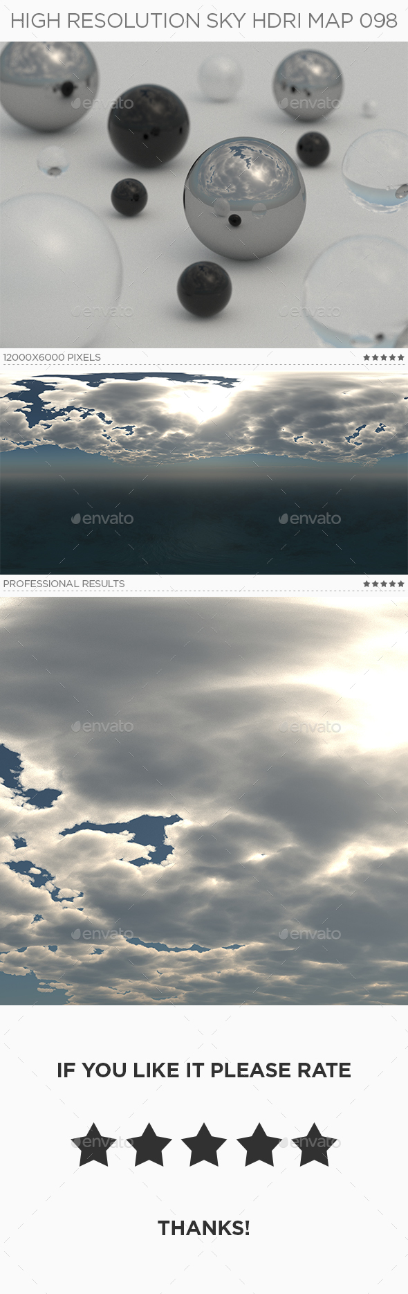 High Resolution Sky HDRi Map 098 - 3DOcean Item for Sale