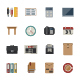 Business and office icon. Vector Flat Icons