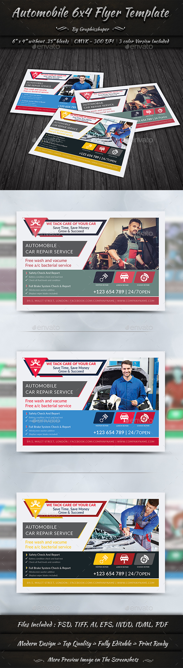 GraphicRiver Automobile 6x4 Flyer Template 20330662