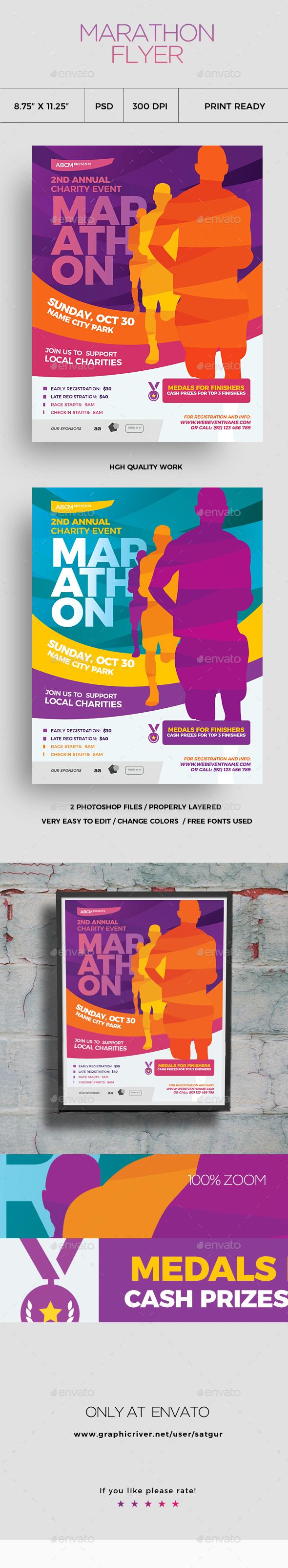 Marathon Flyer Vol1 - Sports Events