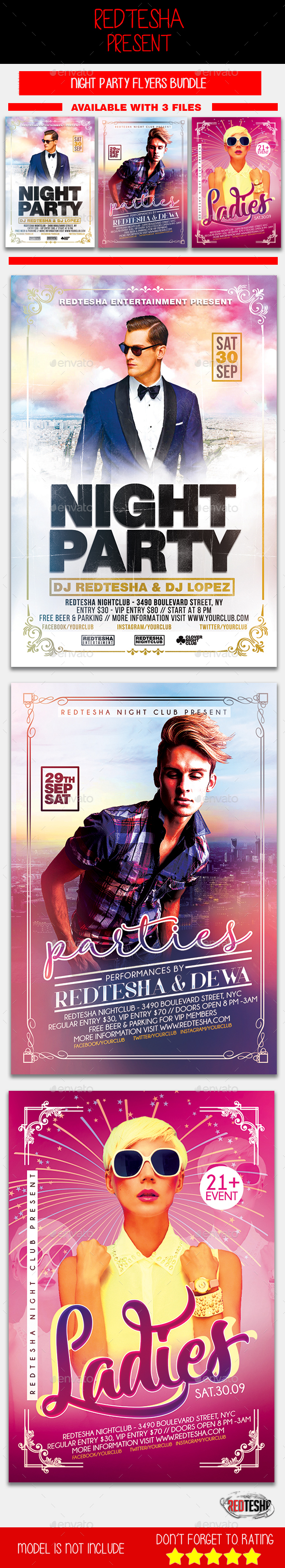 Night Party Bundle - Events Flyers