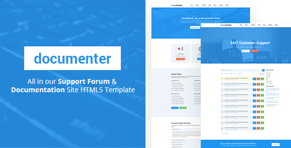 Documenter - All in One Support, Knowledgebase, Documentation Website HTML5 Template - Miscellaneous Site Templates