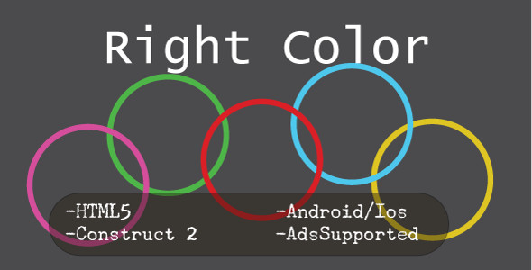 Right Color (HTML5 Game + Construct 2 CAPX) - CodeCanyon Item for Sale