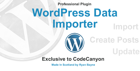 WordPress Data Importer - CodeCanyon Item for Sale