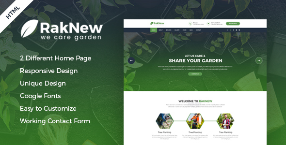 Image of RakNew - Gardening and Landscaping HTML Template