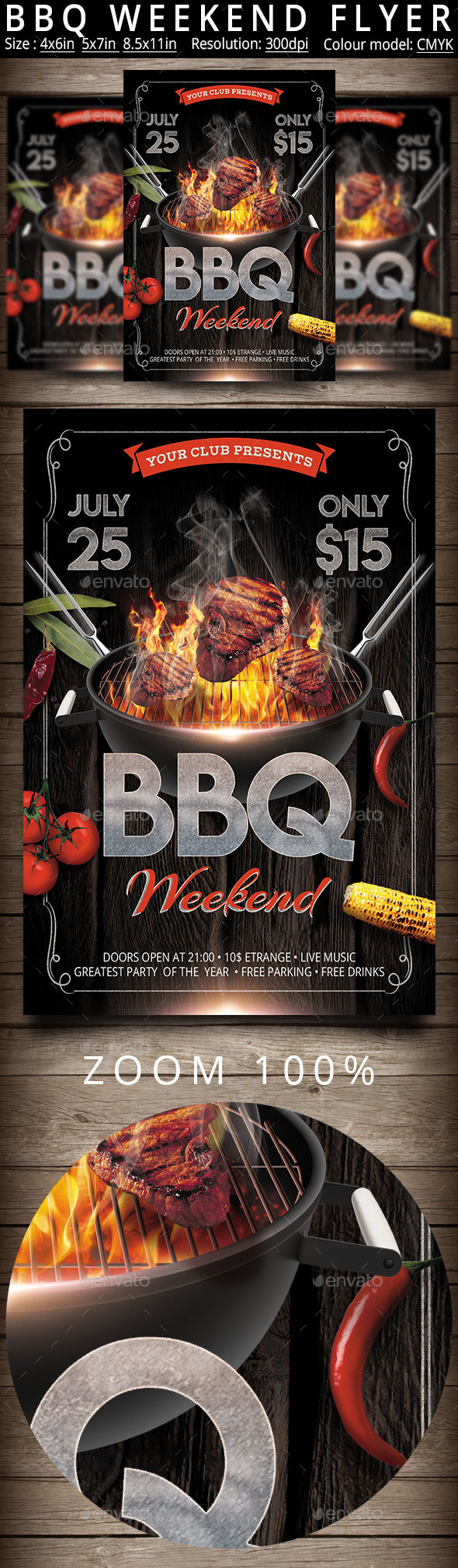 Bbq Weekend Flyer Poster - Events Flyers