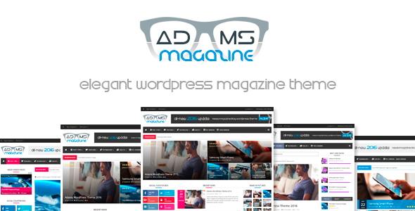 Adams - Responsive Retina WordPress News, Magazine, Blog