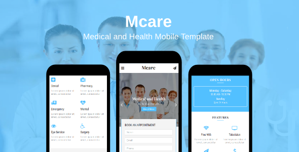 Image of Mcare - Medical and Health Mobile Template