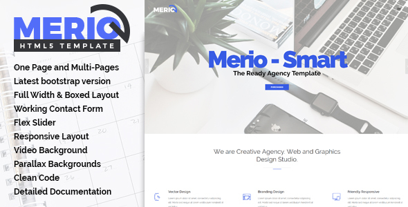 Merio - Creative One Page Parallax - Creative Site Templates
