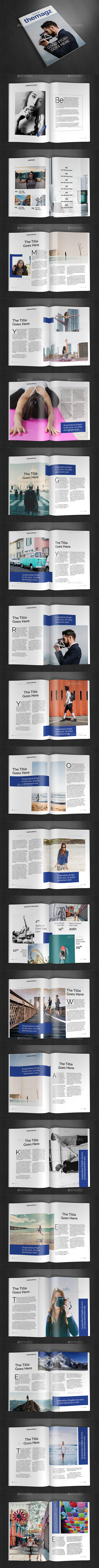 A4 Magazine Template Vol.27 - Magazines Print Templates