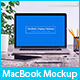 5 Workplace MacBook Display Mockups - GraphicRiver Item for Sale