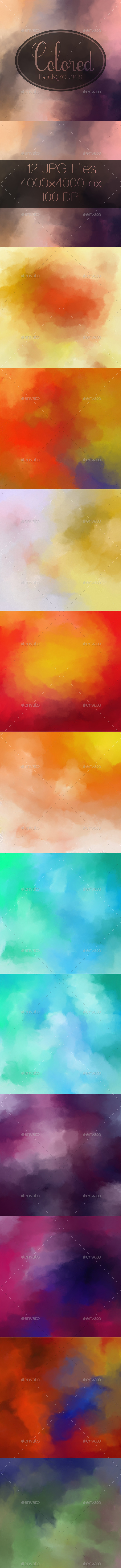 GraphicRiver Colored Backgrounds 20331745