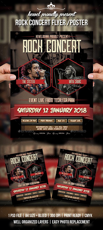 Rock Concert Flyer / Poster - Concerts Events