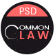CommonLaw - Attorney & Lawyer PSD Template