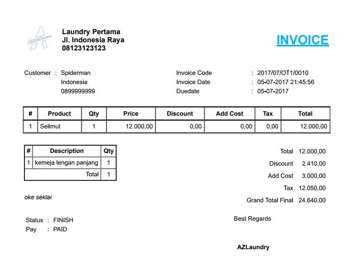 Laundry Management System - AZLaundry