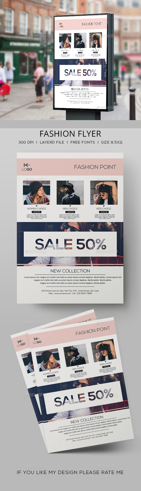 Minimal Fashion Sale Flyer - Events Flyers