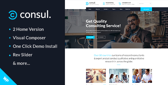 Consul -  Professional Services WordPress Theme - Business Corporate