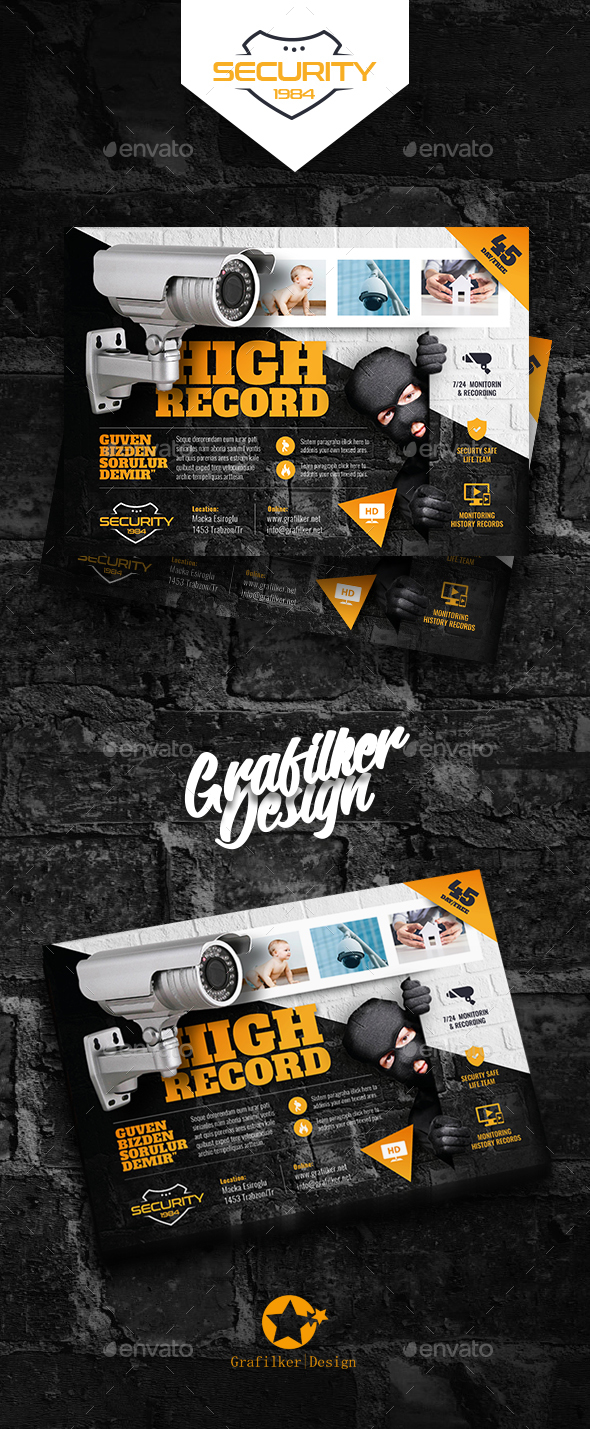 Security System Flyer Templates - Corporate Flyers