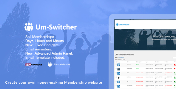 Um-Switcher | Sell subscriptions for Ultimate Member powered by Woocommerce - CodeCanyon Item for Sale