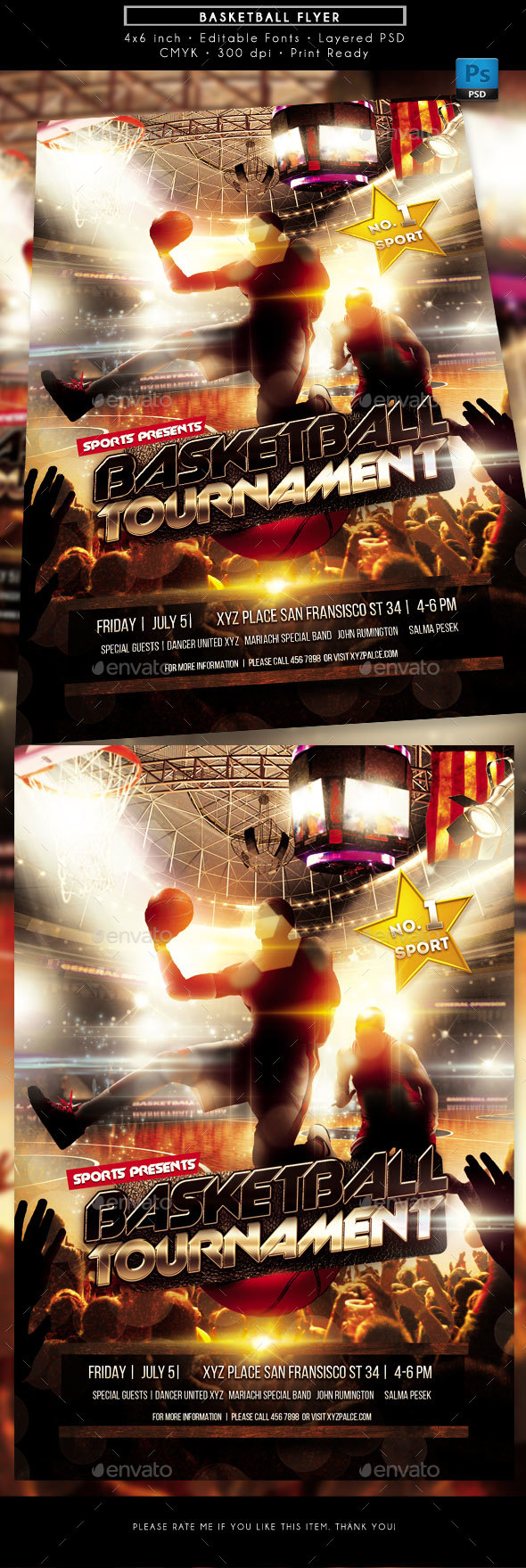 GraphicRiver Basketball Sports Flyer 20332506