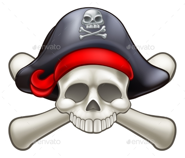 GraphicRiver Pirate Skull and Crossbones 20332710