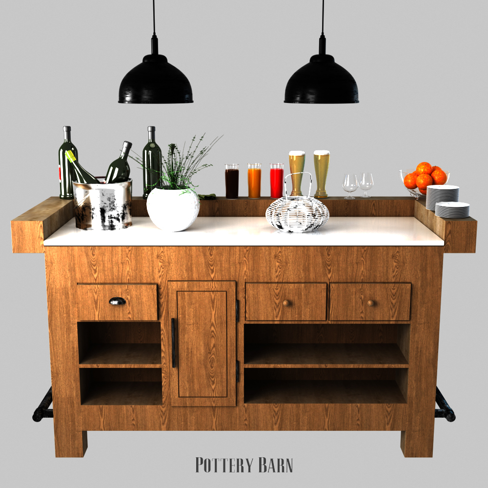 pottery barn rustic ultimate bar large by erkin_aliyev 3doceanrustic ultimate bar large 001 jpg