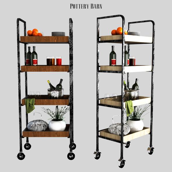 Pottery barn Castelo Kitchen Unit - 3DOcean Item for Sale