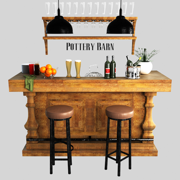 Pottery barn, Banks Bar - 3DOcean Item for Sale